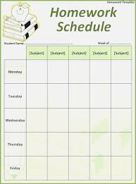 Student Assignment Planner Printable Student Assignment Planner Template Office Weekly Calendar Template