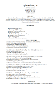 Truck Driver Objective For Resume Resume For Truck Driver Sample Professional Truck Driver Resume 17