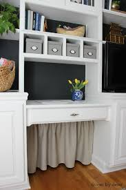 home office solution. Simple DIY Skirt Used To Hide All Of That Under The Desk Cord Clutter! Home Office Solution