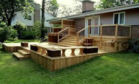 wood patio ideas. Incredible Backyard Wood Patio Ideas Deck And With Oak Materials Homyxl E