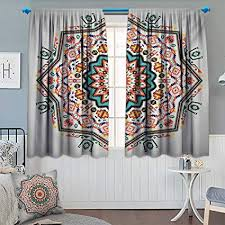 tribal themed bedroom. Unique Themed Tribal Waterproof Window Curtain Abstract Aztec Style Kaleidoscope Themed  Boho Ethnic Sun Pattern Art Print Blackout For Bedroom
