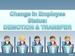Employee Status Change In Employee Status Demotion Transfer