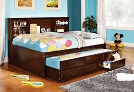 Image Full Bunk Image Unavailable Amazoncom Amazoncom Furniture Of America Lemoine Captain Full Bed With Twin