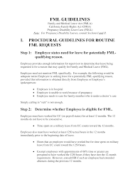 Doctors Note For Work Law California Family And Medical Leave Policy Guidelines Templates At