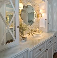 vintage bathroom cabinets for storage. White Wooden Vintage Bathroom Cabinets With Double Sink Combined Painted Storage Cabinet Brass Vanity Lighting And Unique Mirror For