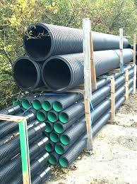 black drainage pipe perforated drain home depot corrugated installation installing with sock flex