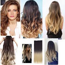 "<b>WTB 24</b>"" long Synthetic Curly 3/4 Full Head Clip in Hair 5 clip ..."