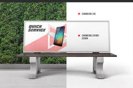 Here you can get this free bus bench mockup psd. Bench Advertising Mockup In Outdoor Advertising Mockups On Yellow Images Creative Store