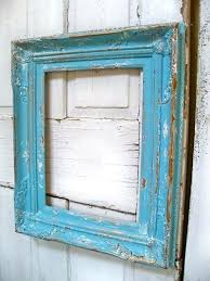 distressed wood frames picture large blue wooden frame beach cottage shabby 8x10