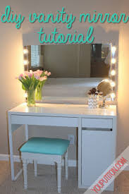 makeup vanity mirror pinterest. diy vanity mirror with lights for bathroom and makeup station pinterest