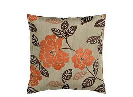 orange accent pillows. Orange Accent Pillows Floral Patterned Taupe And Burnt Throw Pillow Raymour Flanigan . S