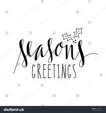 Isolated Hand Written Seasons Greetings Xmas Stock Vector Royalty