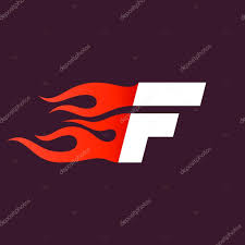 F P Lexile Conversion Chart Fast Fire Letter F Logo On Dark Stock Vector