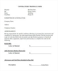 Quote Forms For Contractors Contractor Quote Forms Template Estimate Sheets For Contractors Free