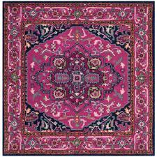safavieh bellagio pink navy 5 ft x 5 ft square area rug