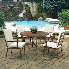 round table with 4 chairs key west 5 round outdoor dining table 4 chairs by