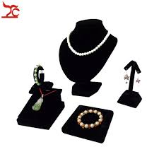 Black Velvet Jewelry Display Stands 100Pcs Black Velvet Jewelry Display Rack Necklace Bust Pendant 53