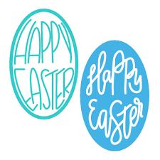 hand lettered easter egg cut files