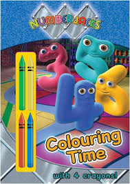The numbertaker is making toys disappear. Numberjacks Colouring Time Colouring Time With Crayons 9781405245913 Amazon Com Books