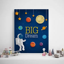 outer space wall art solar system boys