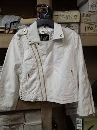b hip by me jane white faux leather cropped jacket new with tags