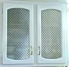 metal cabinet door inserts s decorative perforated f wire mesh metal cabinet door
