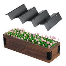 4x wooden raised vegetable garden bed border corner bracket diy assemble planter
