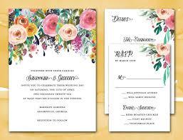 Diy Printable Wedding Invitation Suite Pdf Wedding Suite