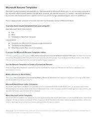 Cover Letter Template Word Office Resume Templates Basic