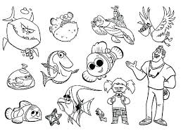 Finding Nemo Coloring Pages 973 Finding Coloring Pages Free Finding
