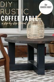 Diy rustic coffee table Table Plans Rustic Coffee Table On Budget Text Overlay Joyfully Growing Rustic Coffee Table On Budget How To Diy Joyfully Growing Blog