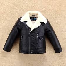 senarai harga thick cool design boys leather jacket with fur collar for autumn winter kids warm coat er outwear children039s clothing terbaru di