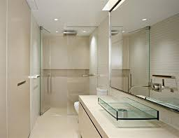 beige bathroom designs modern small bathroom design with cream wall and floor plus glass shower agreeable design mirrored closet