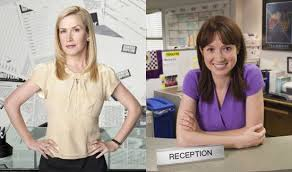 Interview fice Angela Kinsey Ellie Kemper About Web Series Mentor Jim Pam Baby