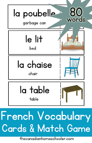 vocab cards with pictures french vocabulary cards label your home with these printable cards
