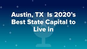 What is the best state capital to live ...