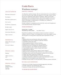 Warehouse Operations Manager Resume