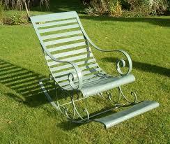 victorian metal rocking chair