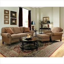 3 piece brown sofa set with cherry wood finish broyhill whitfield