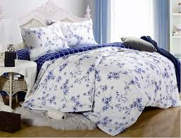 blue and white linen flowers relaxing beautiful stunning bedding throughout flower comforter sets decorations 15 forcebeton org
