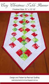 Christmas Table Runner Patterns Inspiration Easy Christmas Table Runner Pattern FREE Pattern Download