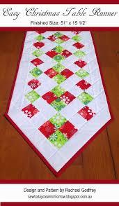 easy christmas table runner pattern free pattern tablerunner