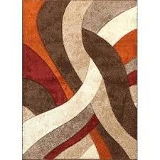 orange and cream rug