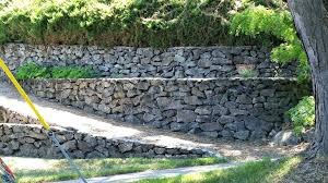 cost to build retaining wall stacked stone dry construction uk