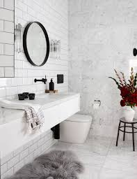 Marble Bathrooms 16 Perfect Marble Bathrooms With Black Fixtures