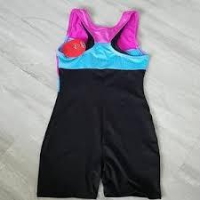 Nwt Freestyle Danskin Leotard Shorts Size 4 7 8 Nwt