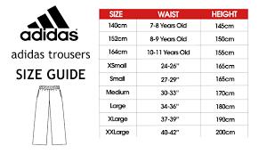 Adidas Men S Size Chart Pants Adidas Tracksuit Pants