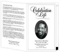 Memorial Pamphlet Template Funeral Order Of Service Outline How To Make A Memorial Program