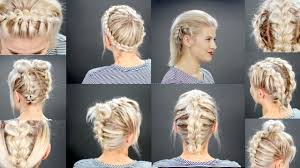 10 Faux Braided Short Hairstyles Tutorial Milabu Youtube
