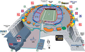 New England Patriots Seating Chart New England Patriots Football Stadium New England Patriots